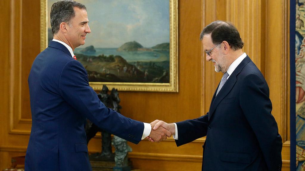 El rey comprime la ronda de consultas para certificar si habrá investidura a Rajoy