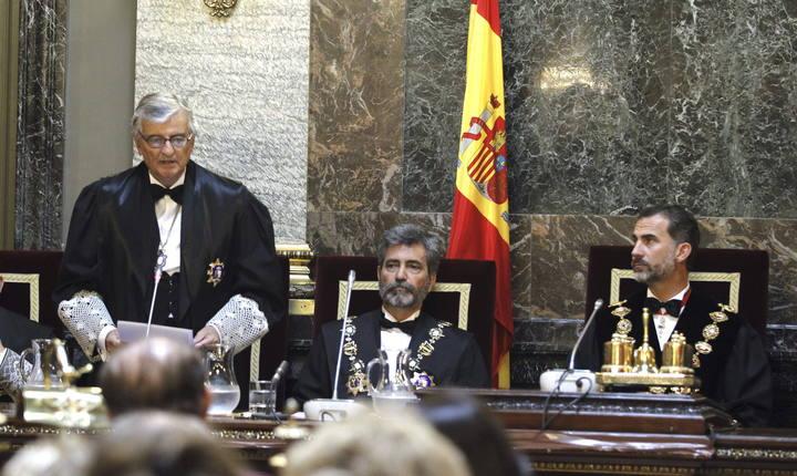 El rey Felipe VI ha presidido la solemne apertura del Año Judicial en el Tribunal Supremo.