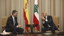 Ir al VideoEl rey Felipe VI visitará la base española Miguel de Cervantes en su primer viaje oficial al Líbano