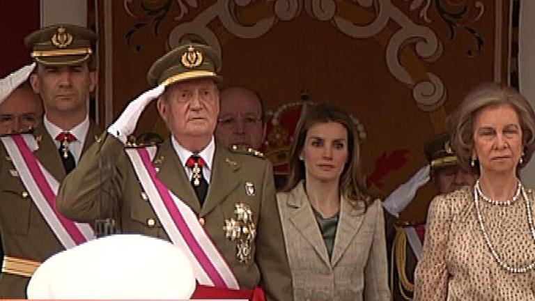 El rey llega a Valladolid para presidir el Día de las Fuerzas Armadas