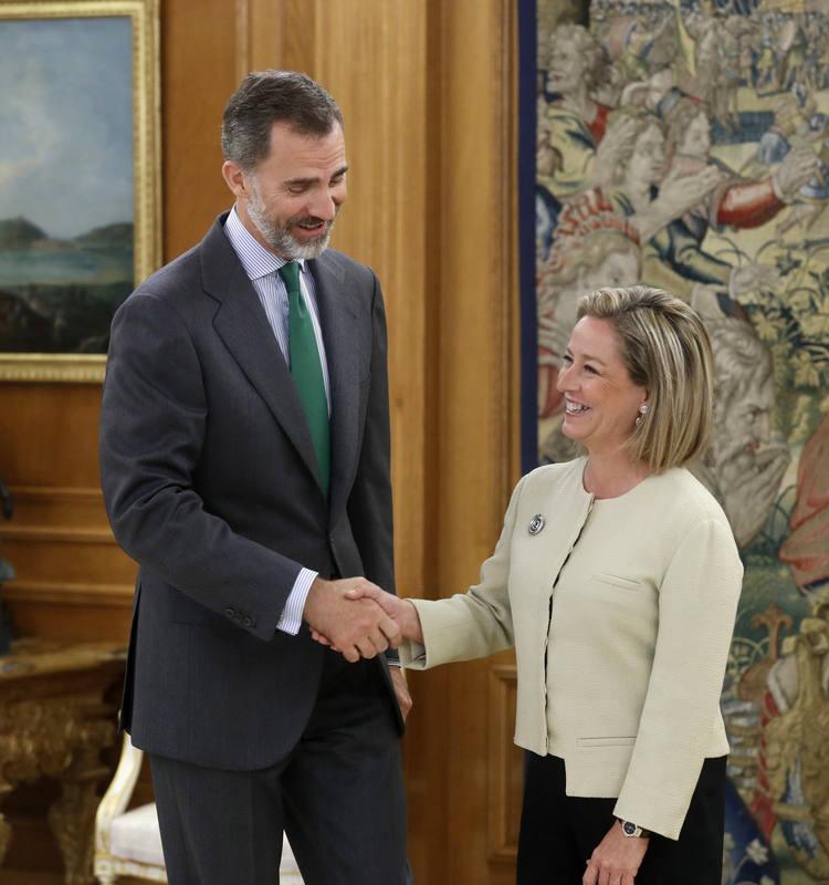 El rey recibe a Ana Oramas (Coalición Canarias) en Zarzuela