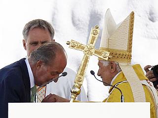 Los reyes asisten a la misa del papa de Cuatro Vientos