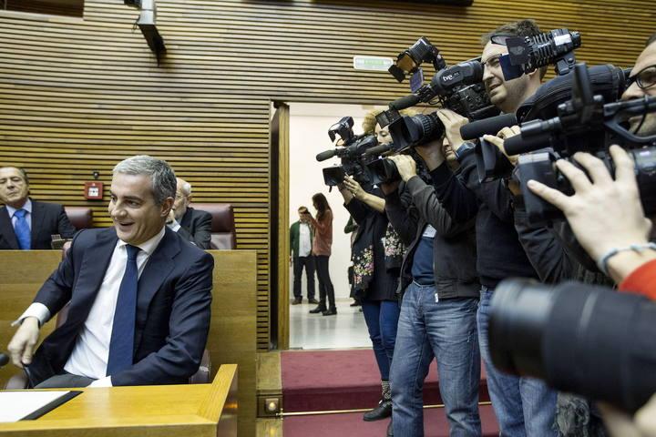 Ricardo Costa en las Cortes Valencianas, tras su imputación en el 'caso Gürtel'