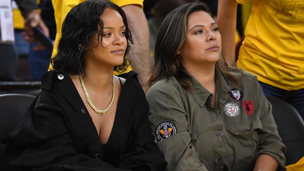Rihanna vibra con LeBron y Durant se venga con un triple