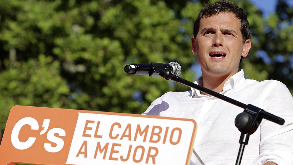 """Rivera: """"Nos jugamos quién está en el gobierno, si Pablo Iglesias o Ciudadanos"""""""