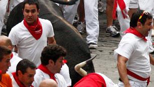 RNE te narra el tercer encierro de San Fermín 2012 en imágenes