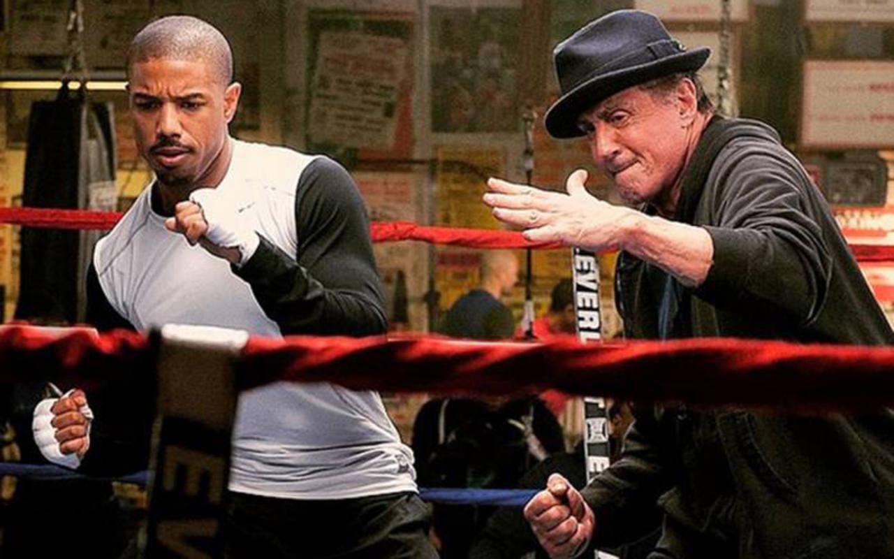 Rocky y Adonis entrenando