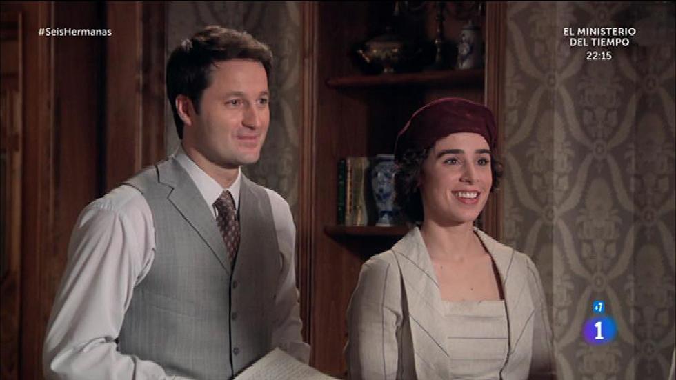 Seis Hermanas - Rodolfo convence a Celia para participar en su mitín político