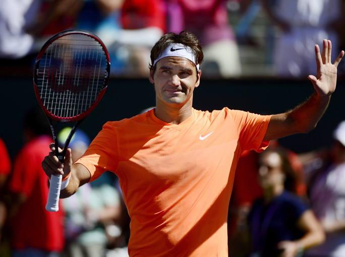 Roger Federer celebra su victoria en semifinales frente a Milos Raonic
