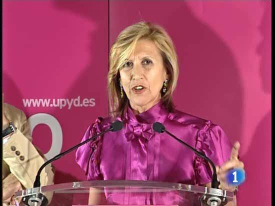 Rosa Díez valora los resultados de las europeas