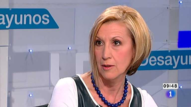 Los desayunos de TVE - Rosa Díez, diputada nacional y portavoz de UPyD