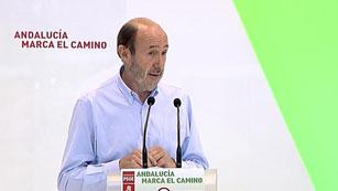 Rubalcaba demuestra su apoyo a  Antonio Griñán