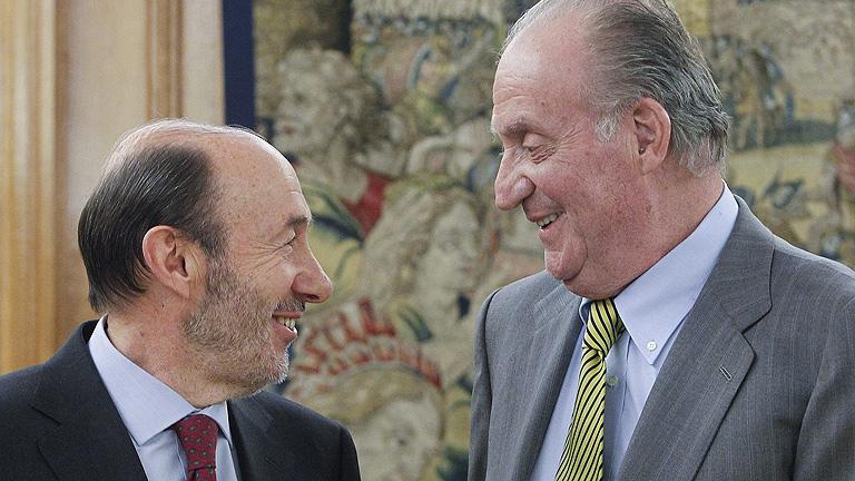 Rubalcaba expone al rey las prioridades de su proyecto al frente del PSOE
