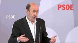 """Rubalcaba: """"El PSOE no ha bloqueado nada en torno a la renovación de RTVE"""""""