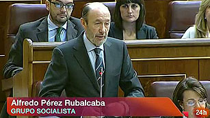 """Ver vídeo  'Rubalcaba a Rajoy: """"Deje que comparezcan gestores y supervisores para saber qué pasó en Bankia""""'"""
