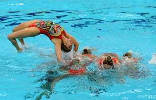 Rutina artística de natación sincronizada