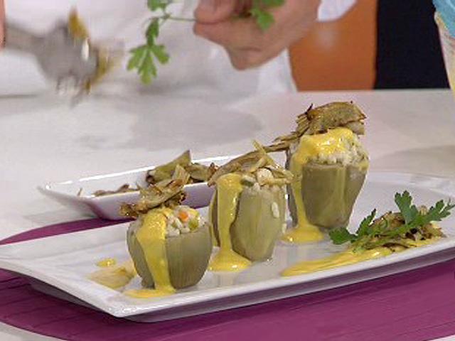 Arroz en alcachofas con salsa de zanahoria 09 11 10 for Cocinar zanahorias