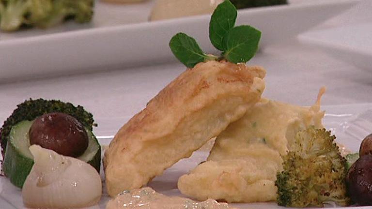 Saber cocinar bacalao rebozado con papillote de verduras for Cocinar cocochas de bacalao