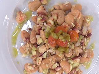 Saber cocinar - Judiones templados con pulpo en salsa de albahaca (03/10/11)