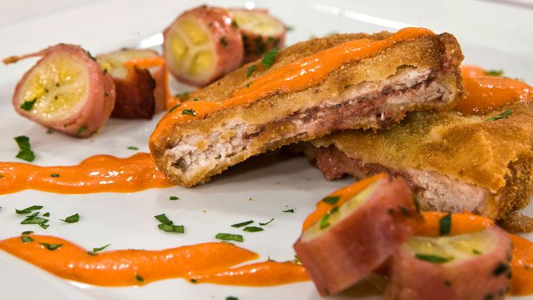 saber cocinar medallones rellenos de foie con pl tanos