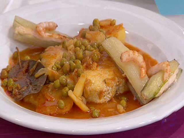 Merluza en salsa de piment n y patatas 12 11 10 - Cocinar merluza en salsa ...