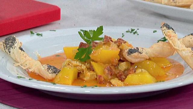 Saber cocinar - Patatas guisadas con chorizo y pavo