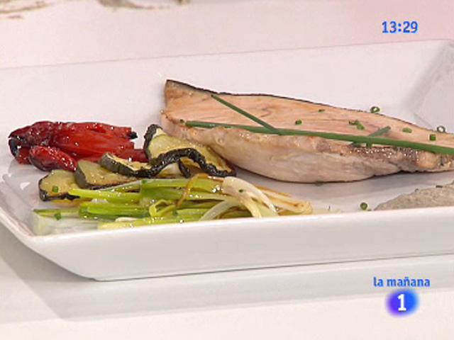 Saber comer pez espada con crema de champi n 20 07 for Cocinar pez espada