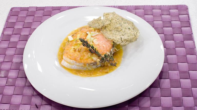 Receta de salm n al vapor con salsa de c tricos for Cocinar salmon