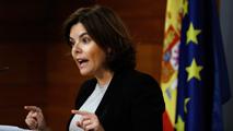 """Sáenz de Santamaría insiste a Puigdemont: El referéndum es """"innegociable"""""""