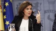 """Ir al VideoSáenz de Santamaría: """"El primer pacto por España es nuestra Constitución"""""""
