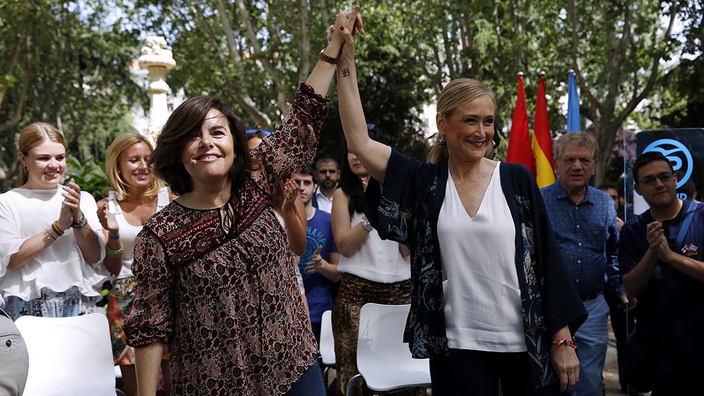 """Sáenz de Santamaría: votar al PP es votar """"confianza, estabilidad y España"""""""