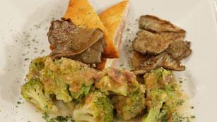 Saber Cocinar - San jacobos de pollo con brecol a la vinagreta