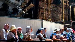 El santo sepulcro de Jerusalén está de obras