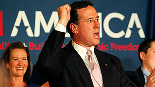 Santorum gana las primarias republicanas de Alabama y Misisipí