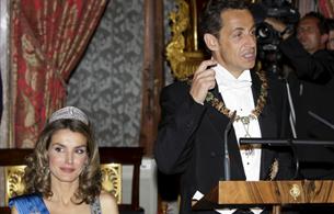 Sarkozy habla de su amistad con España en la cena de gala