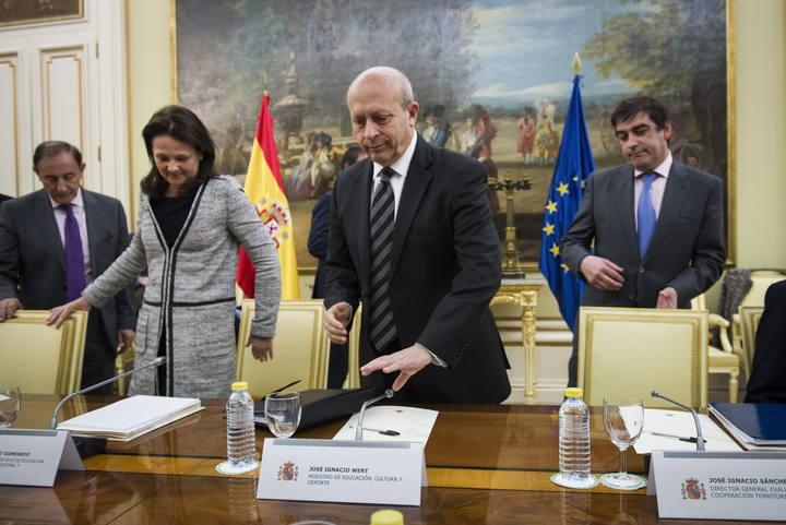 La secretaria de Estado de Educación, Montserrat Gomendio, junto al ministro José Ignacio Wert.