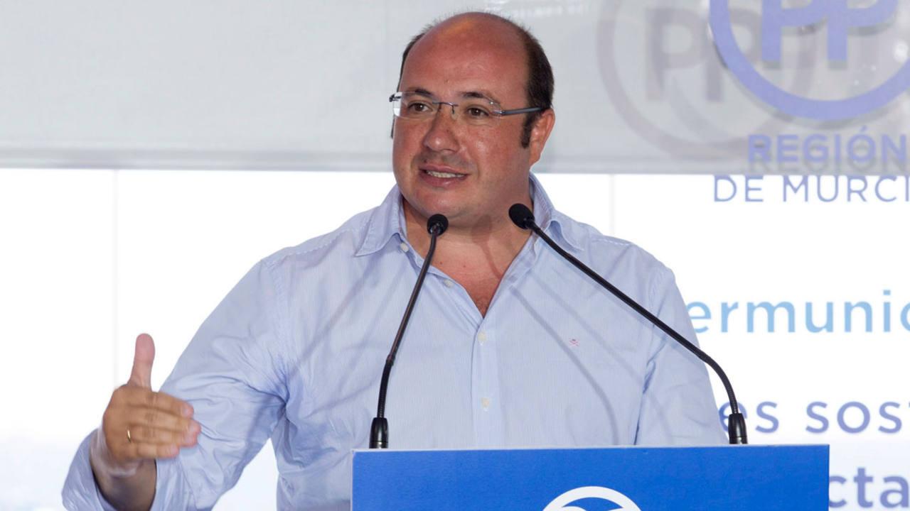El secretario general del PP de Murcia y presidente de la región Pedro Antonio Sánchez