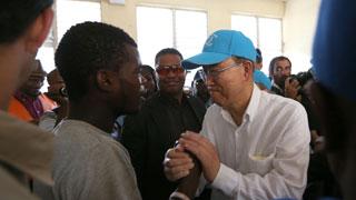 El secretario general de la ONU, decepcionado por la respuesta internacional a la crisis humanitaria en Haiti