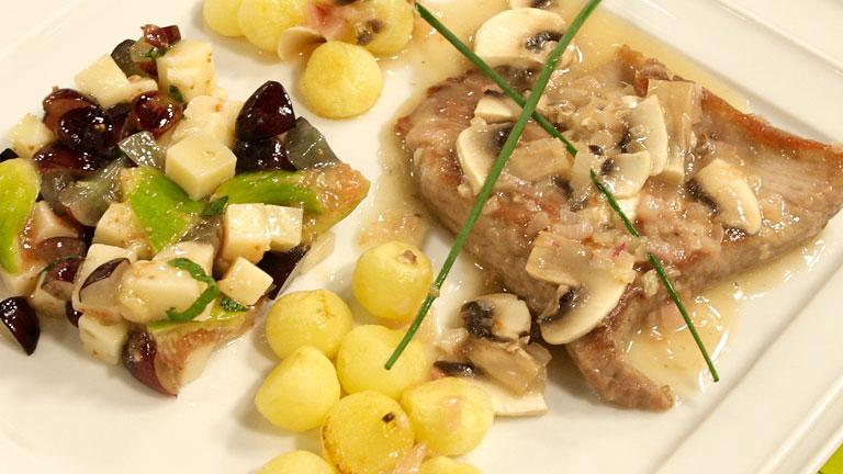 Secretos al cava con ensalada de higos y queso - Saber Cocinar