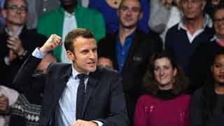 Los seguidores de Macron celebran su victoria en el centro de Paris