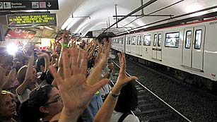Segunda huelga contra la privatización del ferrocarril