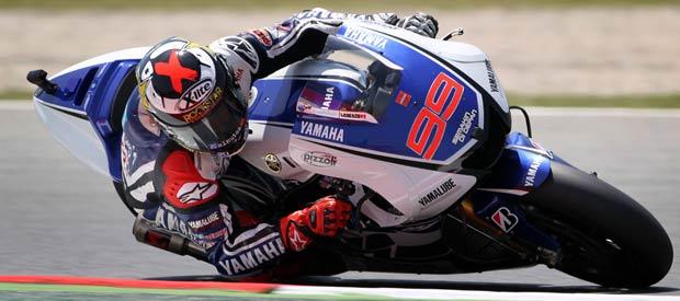 El piloto español de MotoGP Jorge Lorenzo, del equipo Yamaha, en la pista de Montmeló.