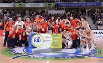 Ir al VideoLa selección de baloncesto femenino gana a Corea del Sur y se clasifica para Río