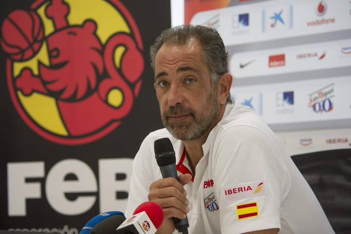 El seleccionador español de baloncesto, Juan Antonio Orenga.