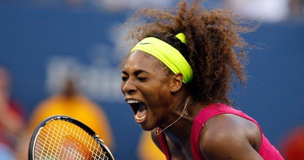 Serena Williams celebra su victoria ante la italiana Errani en su semifinal del US Open 2012.