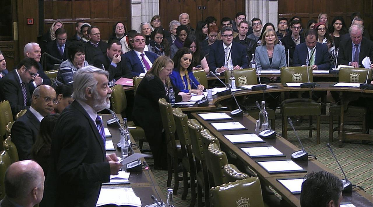 Sesión del Parlamento británico en la que se ha debatido el veto a la entrada de Donald Trump a Reino Unido