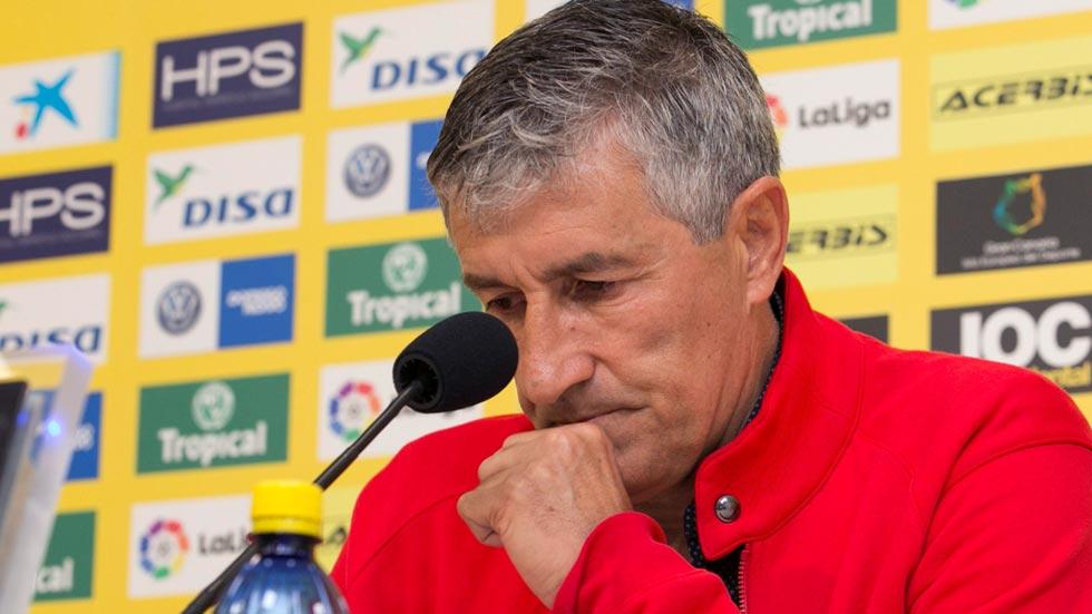 Setién dejará Las Palmas al final de la temporada