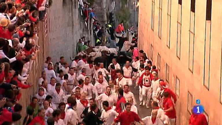 Sexto encierro de San Fermín 2012