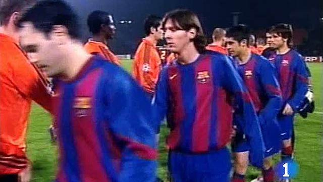 Siete años del debut europeo de Messi