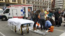 Siete heridos en un atropello múltiple en Oviedo